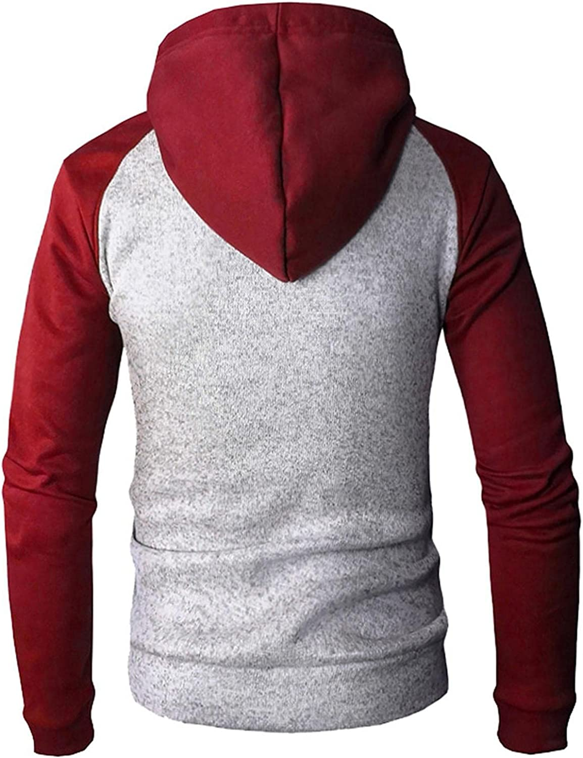Hoodies for Men, F_Gotal Men's Fashion Long Sleeve Autumn Solid Color Pocket Loose Casual Sweatshirt Hoodies Tracksuits