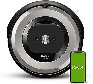 iRobot Roomba e5154, aspirateur robot, idéal pour les animaux, 2 brosses anti-emmêlement en caoutchouc, forte puissance d'...