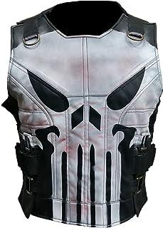 Men`s John Bernthal Gangster Black Leather Biker Vest