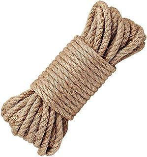 Hanfseil, starke 6 mm mit Jute-Seil, natürliches Hanf Seil Band Jute Twine Kunst Handwerk DIY Dekoration Geschenkverpackung, Garten, Haustiere, Hanf, Mehrzweck-Twine Rope 10 32 FT PACK 1