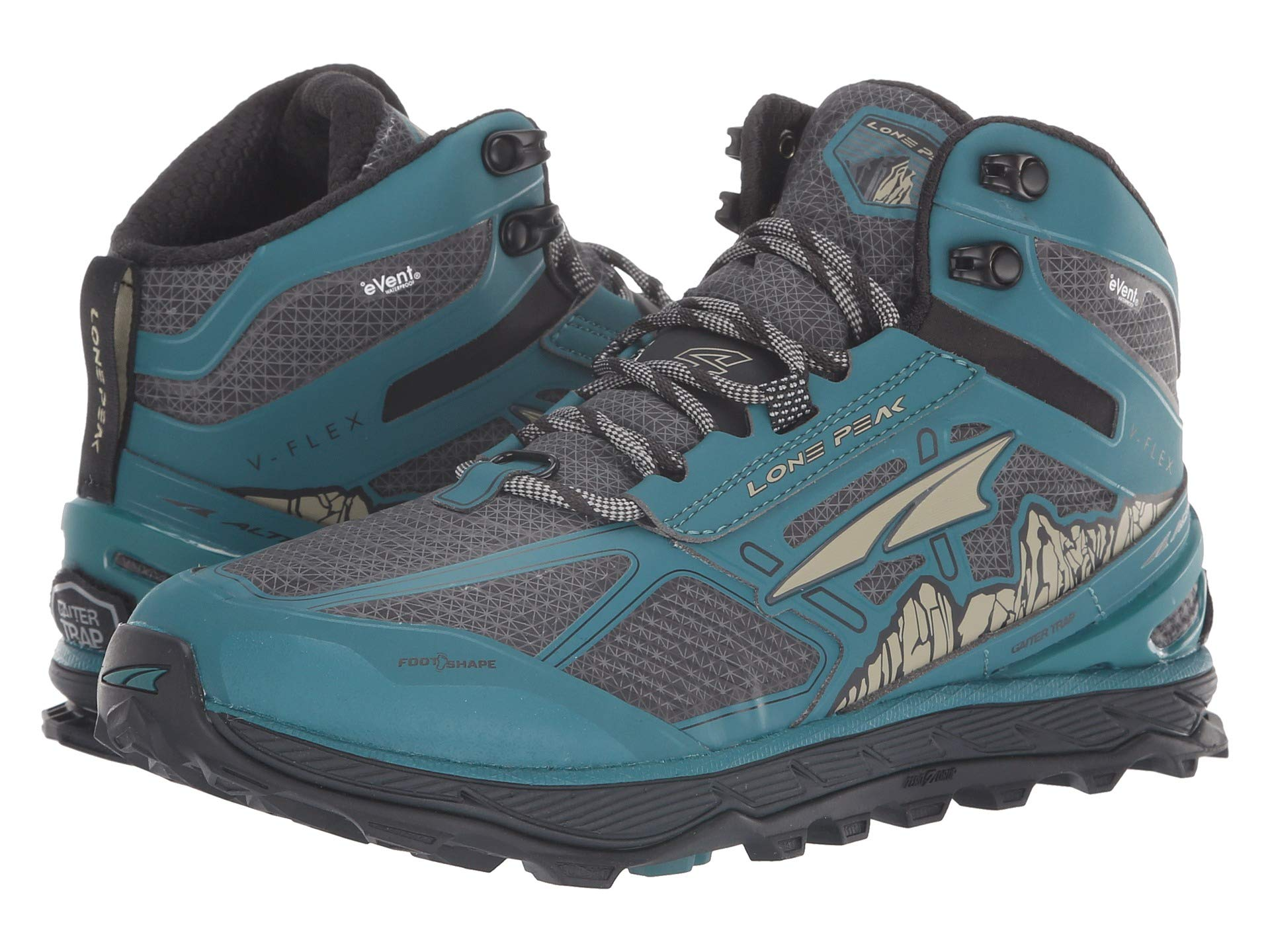 Altra Lone Footwear Rsm Mid Peak gray 4 Green 5ra5xqRw