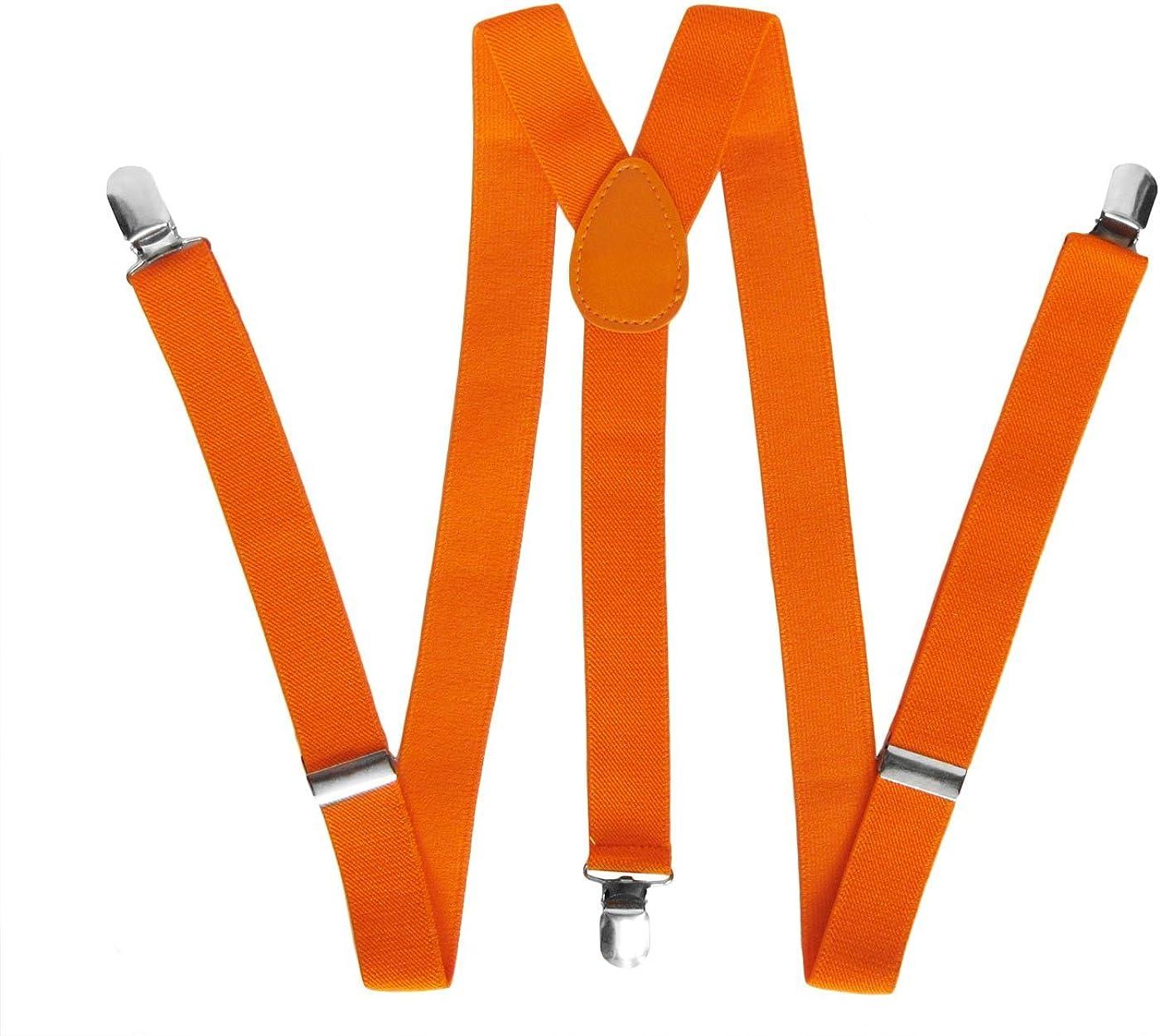 Neon Orange Suspenders Gothic Emo Punk Unisex