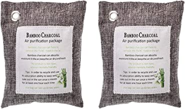 Hlinsa Activated Bamboo Charcoal air Purifying Bag(2 Pack), Car Charcoal air Purifying Bag,Charcoal Bag Absorbs Odors and Odor Neutralizer, Deodorizer for Home,Toilet Freshener、Closets,200g
