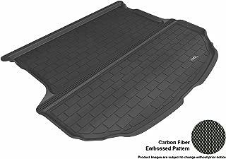 3D MAXpider Cargo Custom Fit All-Weather Floor Mat for Select Hyundai Santa Fe Sport Models - Kagu Rubber (Black)
