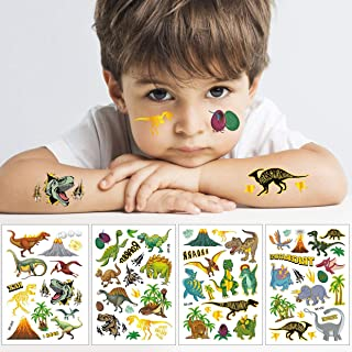 Dinosaur Temporary Tattoos for Kids, 50+ Styles | Boys Birthday Party Supplies, Dinosaur Party Favors, T-rex Decorations +...