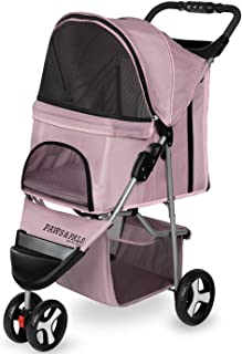 Paws & Pals Dog Stroller - Pet Strollers for Small Medium Dogs & Cats - 3 Wheeler Elite Jogger - Carriages Best for Cat & Large Puppy