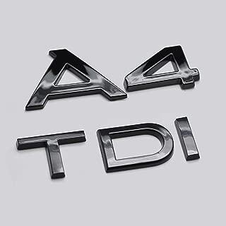 Noir Brillant A1 TFSI Caract/ères Botte arri/ère Couvercle Tronc Badge Embl/ème Pour A1 Mod/èle