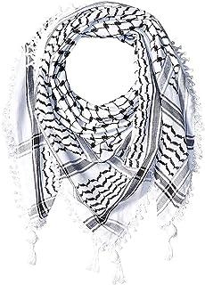 "Hirbawi Premium Arabic Scarf 100% Cotton Shemagh Keffiyeh 47""x47"" Arab Scarf Made in Palestine"