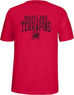 NCAA Maryland Terrapins Adult School Name Over Logo Choice Tee, Small, Red