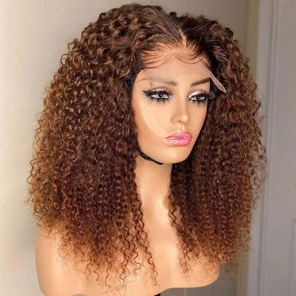 Manufacturer direct delivery Kinky Curly Wig for Black Women Lace Indianapolis Mall Ha Front Honey Human Blonde