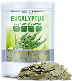 100% Natural Dried Eucalyptus Leaves, Eucalyptus Herbal Tea, Cut and Shifted, Bulk Bag (4 oz)