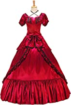 XOMO Victorian Southern Belle Gothic Dress Ball Gown Halloween Prom Lolita Costume