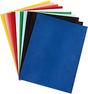 Hygloss Products, Inc Velour Paper Soft, Velvety Surface Works with Printers, 8-1/2 x 11 Inches - 20 Sheets, Assorted Colors