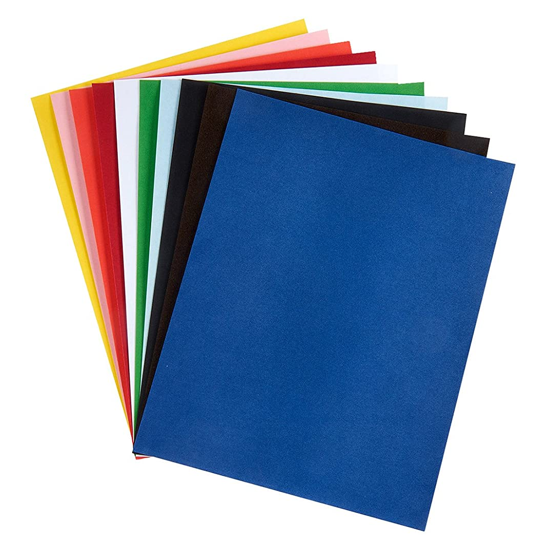Hygloss Products, Inc Velour Paper, Assorted Colors 20 Sheets