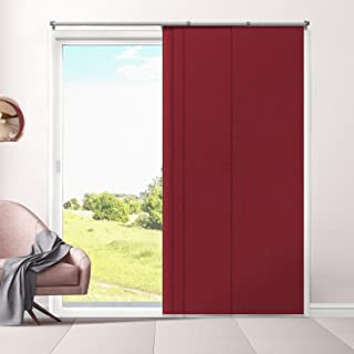 Chicology Adjustable Sliding Panels, Cut to Length Vertical Blinds, Eclipse Ruby (Room Darkening) - Up to 80