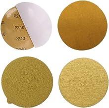 UIEMMY Sandpapper 10 st guld sandpapper premium 5 guld PSA självhäftande krok ögla slipskivor för slippapper 40–1 000 kor...
