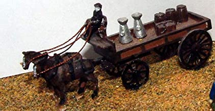 Langley Models Horse Drawn Delivery trolley 2 horses N Scale UNPAINTED Kit E15