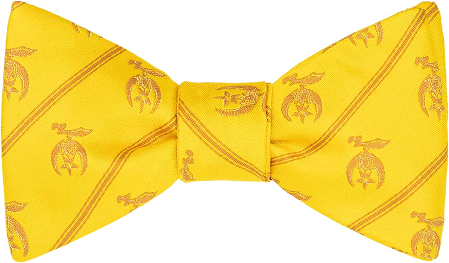 Max 56% OFF Shriner Bow Tie by Masonic Department store Standard Revival Gold -