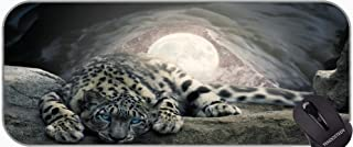 Personalized Your Gaming Mousepad,Moon snow cave leopard Non-Slip Laptop Computer Keyboard Mousepad