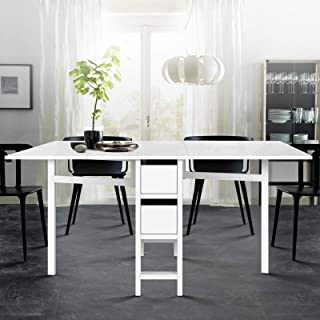 Gate Leg Extendable Table Dining Change Convertable Folding Storage Drawers