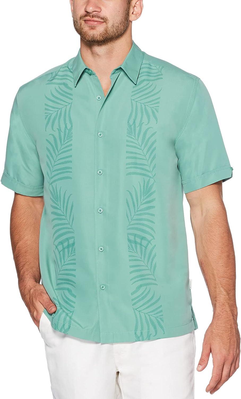 Cubavera Men's Botanical Palm Panel Print Shirt