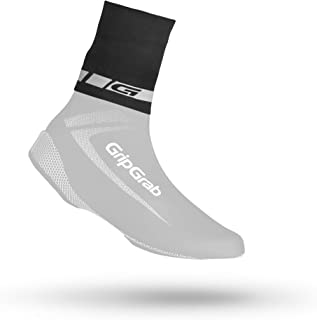 GripGrab CyclinGaiter Waterproof Neoprene Reflective Overshoe Shoe-Cover Seal Cycling Ankle Bands Cuffs Black Yellow