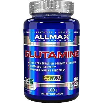 Amazon Com Allmax Glutamine 100 Pure Japanese Grade Micronized Powder Dietary Supplement 100g Health Personal Care