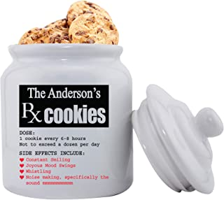 Personalized Ceramic Cookie Jar - Personalized Cookie Jar - Custom Cookie Jar - RX Smiles
