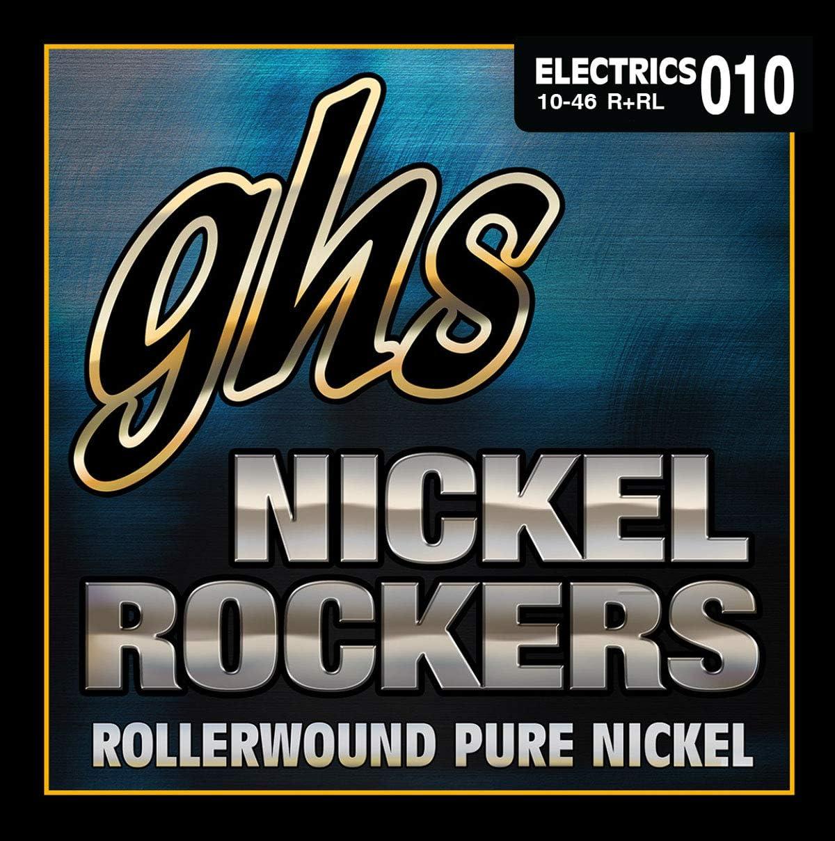 ghs R+RL - Juego de cuerdas para guitarra eléctrica de níquel, 10-46