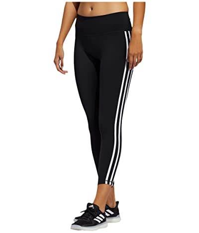 adidas Believe This Stripe 7/8 Tights (Black/White) Women