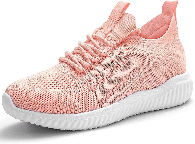 Akk Womens Sneakers Walking Shoes - Breathable Memory Foam Trainers Slip On Tennis Nurse Sport Running Shoes for Gym Jogging Fitness Travel