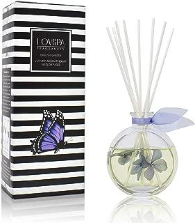 LOVSPA English Garden Luxury Home Fragrance Diffuser Reeds Set | Smooth Jasmine, Sheer Roses, Heady Hyacinth, Creamy Lily of The Valley, Lavish Oak Moss & Subtle Musk.