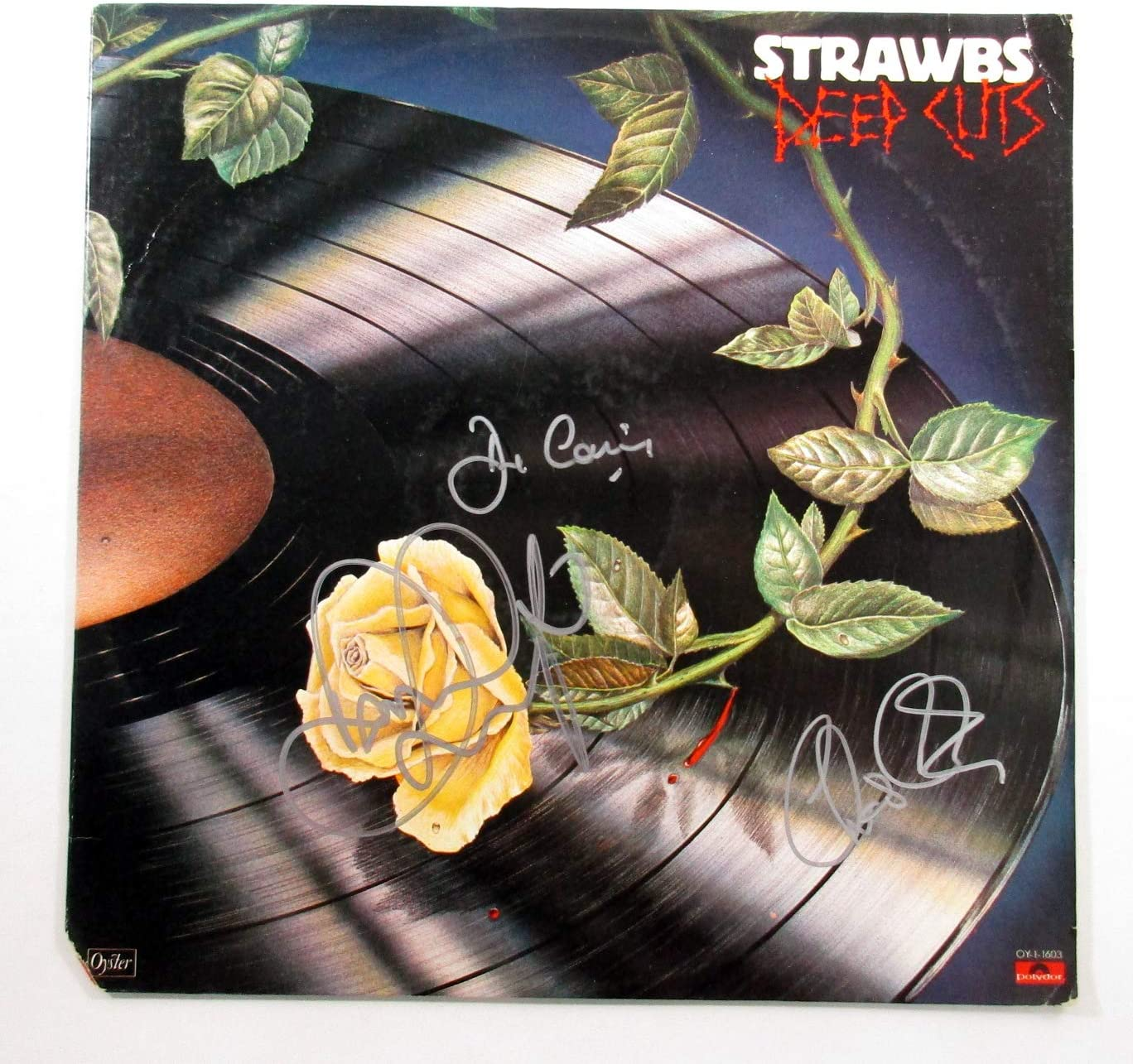 Dave Cousins and 2 famous More Signed Cuts Record Deep Max 71% OFF Album LP Strawbs