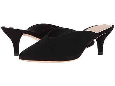 Loeffler Randall Juno Kitten Heel Mule (Black Suede) Women