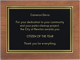 Things Remembered Personalized 8x10 Walnut Finish Plaque with Engraving Included