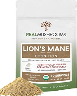 Sponsored Ad - Real Mushrooms Lions Mane Powder (60 Servings) | Vegan, Gluten-Free, Organic Lions Mane Extract | Support C...