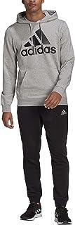 Adidas GK9653 M BL FT HD TS Tracksuit mens top:medium grey heather/black bottom:black/white 4