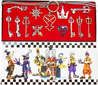 Yancos Kingdom Hearts Keyblade Keychain Pendant Necklace Set Collection 13pcs