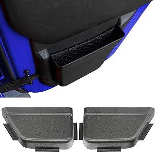 Auscoop DoorPocket Rear Door Storage Pockets Organizer Box for 2011-2017 Jeep Wrangler JK JKU 4-Door, Door Net Pocket Replacement, Interior Accessories, Black (Improved Version)