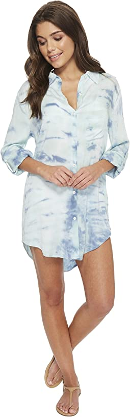 Green Dragon Heaven Big Sur Boyfriend Shirt