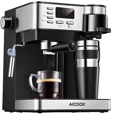 AICOOK Espresso and Coffee Machine, 3 in 1 Comb...