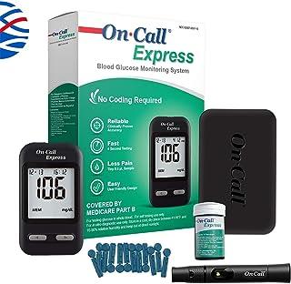 در آزمایش Call-Expression Test دیابت کیت- در تماس با اکسپرس گلوکز خون، 10 آزمایش خون، 1 دستگاه لیزر، 30G Lancets، راه حل کنترل، کیف حمل، کتاب ورود