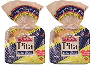 2 Pack Value: Toufayan Bakeries Low Carb Pita Bread, 12 Loaves Total