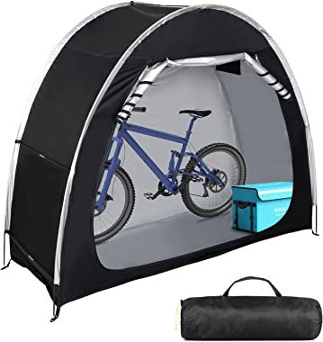 Bike Cover Storage Tent Heavy Duty Storage Tent Durable Polyester Waterproof Anti-Dust Portable Foldable Outdoor Tools Storag
