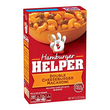 Hamburger Helper Double Cheeseburger Macaroni, 5.2-Ounce Boxes (Pack of 12)