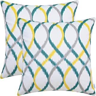 Pleasant Amazon Com Yellow And Teal Throw Pillows Pdpeps Interior Chair Design Pdpepsorg