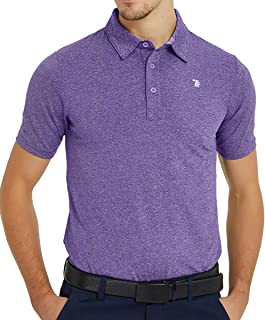 Gopune Men's Golf Shirts Dry Fit Short Sleeve Polo Athletic Casual Collared T-Shirts