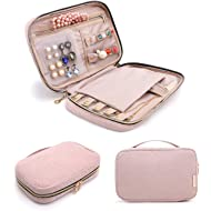 bagsmart Jewelry Organizer Case Travel Jewelry Storage Bag for Necklace, Earrings, Rings,...