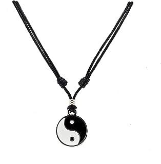 yin yang cord necklace