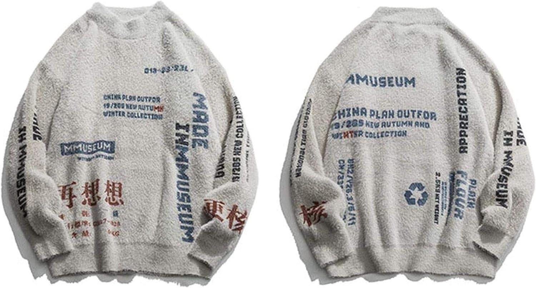 WSBD Letters Graffiti Knittwear Mens Pullover Sweaters Hip Hop Streetwear Fashion Casual Pullovers Outwear